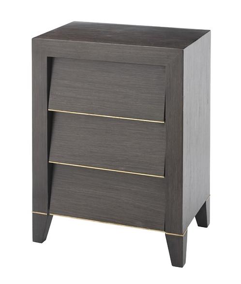 Radway, 3 drawer bedside in Brown
