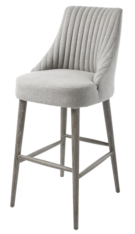 Halwell Bar Stool in Grey