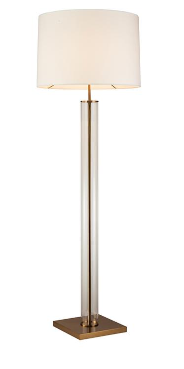 Norman Floor Lamp (antique brass)