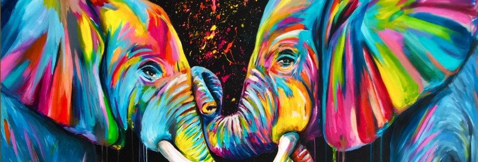 פילים צבעוניים