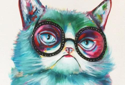 חתולה צבעונית