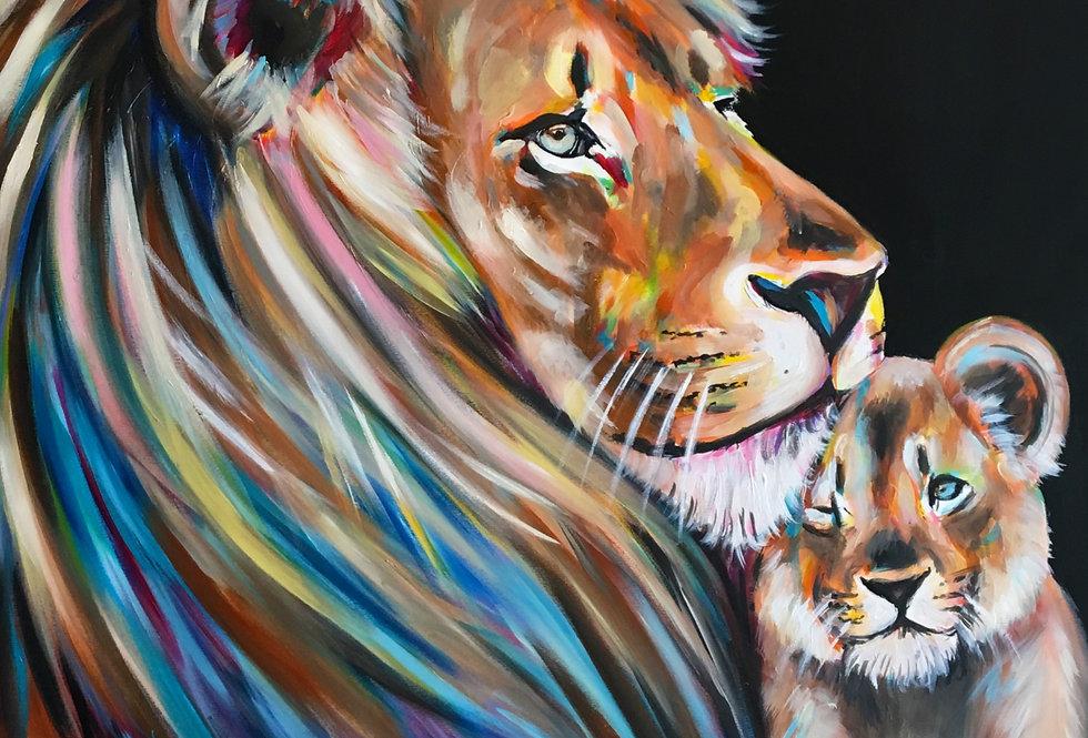 אריה עם גור