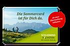 Sommercard im Zimmerpreis inklusie