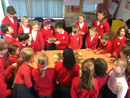 Archaeologist visits Class 4