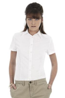 BA-R709 Ladies' Oxford Short Sleeve Shirt