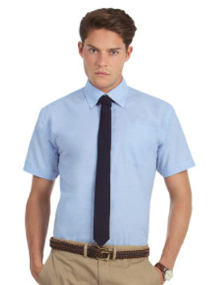 BA-R708 Men's Oxford Short Sleeve Shirt