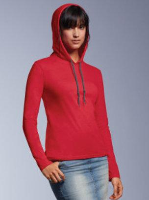 AV-R182 Ladies Long Sleeves Hooded T-Shirt