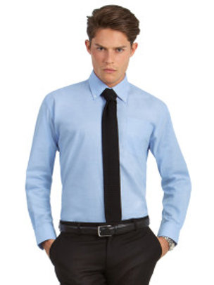 BA-R706 Men's Oxford Long Sleeve Shirt