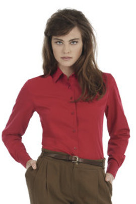B-R704F Ladies' Smart Long Sleeve Poplin Shirt