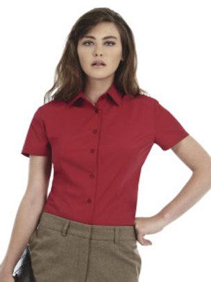 B-R705F Ladies' Smart Short Sleeve Poplin Shirt