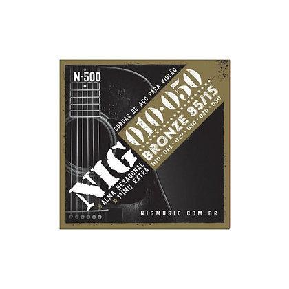 Encordoamento p/Violão Aço 010-050 Nig Bronze N500