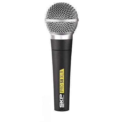 Microfone c/Fio Vocal SKP PRO-58XLR