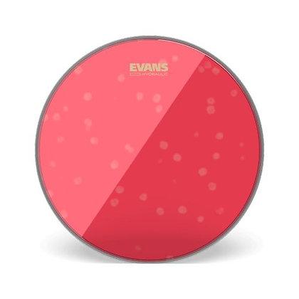 """Pele p/Caixa/Tom 14"""" Transparente Evans Hydraulic Red TT14HR"""