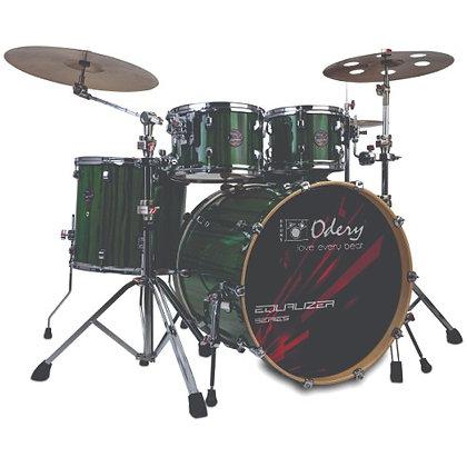 Bateria Acústica Odery Equalizer Emerald Green Trees EQ220L
