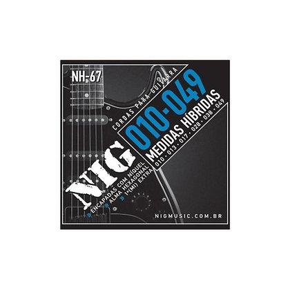 Encordoamento p/Guitarra 010-049 Nig Medidas Híbridas NH-67