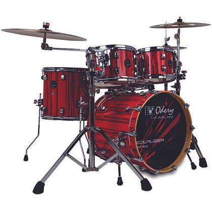 Bateria Acústica Odery Equalizer Pure Red Trees EQ200L