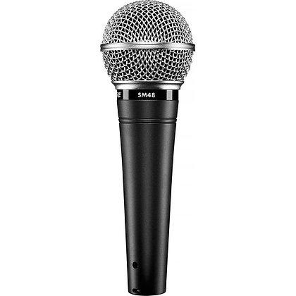 Microfone c/Fio Vocal Shure SM48-LC