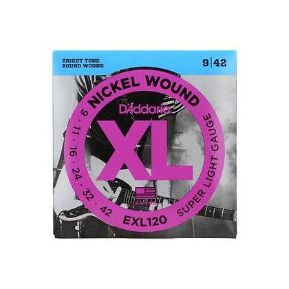 Encordoamento p/Guitarra 009 D'Addario XL Níquel ELX120