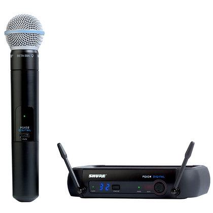 Microfone s/Fio de Mão Digital Shure PGXD24BR/BETA58