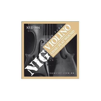 Encordoamento p/Violino Nig Lisas/Flat Wound NVE-804