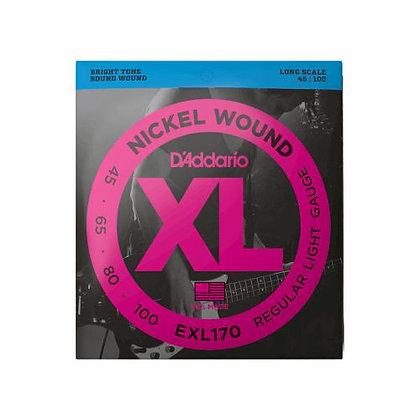 Encordoamento p/Contrabaixo 4C 45-100 D'Addario XL Níquel EXL170-4