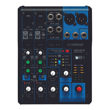 Mesa de Som Analógica 6 Canais Yamaha MG06X
