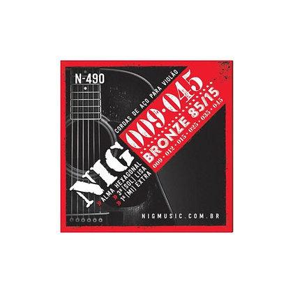Encordoamento p/Violão Aço 009-045 Nig Bronze N490
