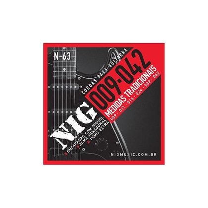 Encordoamento p/Guitarra 009-042 Nig Medidas Tradicionais N-63
