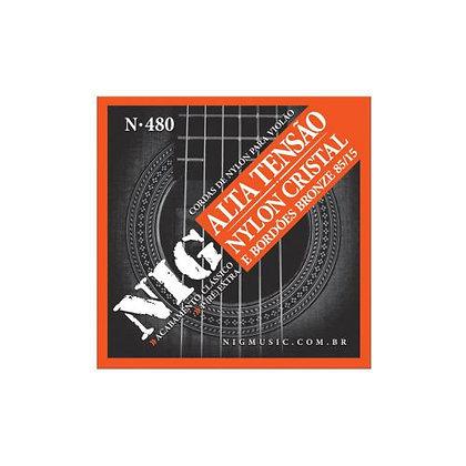 Encordoamento p/Violão Nylon Tensão Alta Nig N480