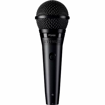 Microfone c/Fio Vocal Dinamico Cardióide Shure PGA58-XLR
