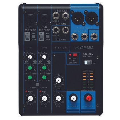 Mesa de Som Analógica 6 Canais Yamaha MG06