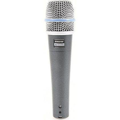 Microfone c/Fio Vocal Supercardioide Beta57A