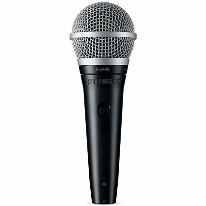 Microfone c/Fio Vocal Dinamico Shure PGA-48 LC