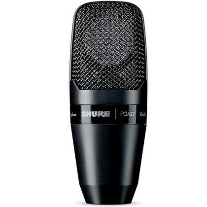 Microfone c/Fio Vocal Condensador Shure PGA27-LC