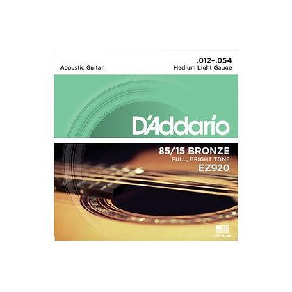 Encordoamento p/Violão Aço 012 D'Addario Bronze EZ920