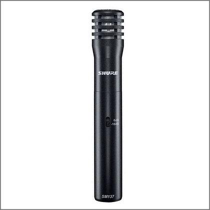 Microfone c/Fio de Instrumento Condensador Shure SM137-LC