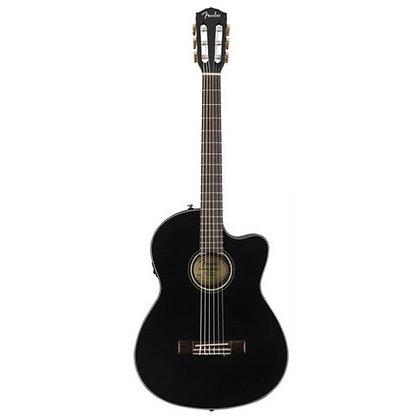 Violão Elétrico Nylon Cutaway c/Case Fender CN-140 SCE Black
