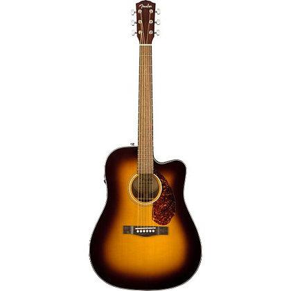 Violão Elétrico Aço Cutaway c/Case Fender CD-140 SCE Dreanought