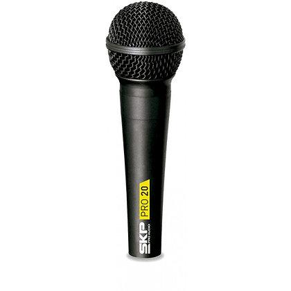 Microfone c/Fio Vocal SKP PRO 20