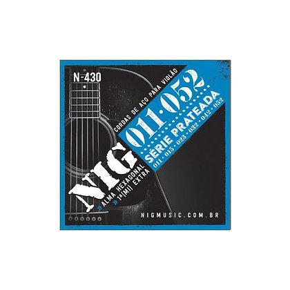 Encordoamento p/Violão Aço 011-052 Nig Série Prateada N430