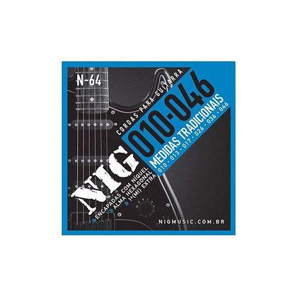 Encordoamento p/Guitarra 010-046 Nig Medidas Tradicionais N-64
