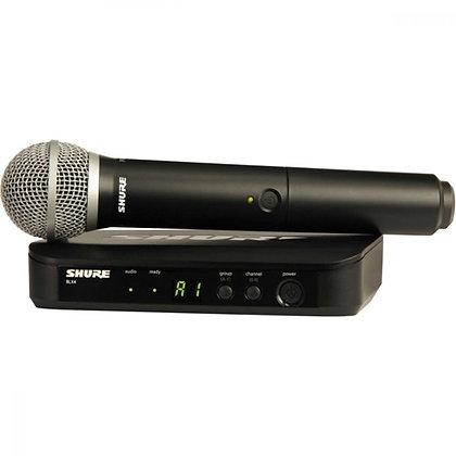 Microfone s/Fio de Mão Shure BLX24BR/PG58