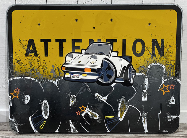 Panneau Porsche