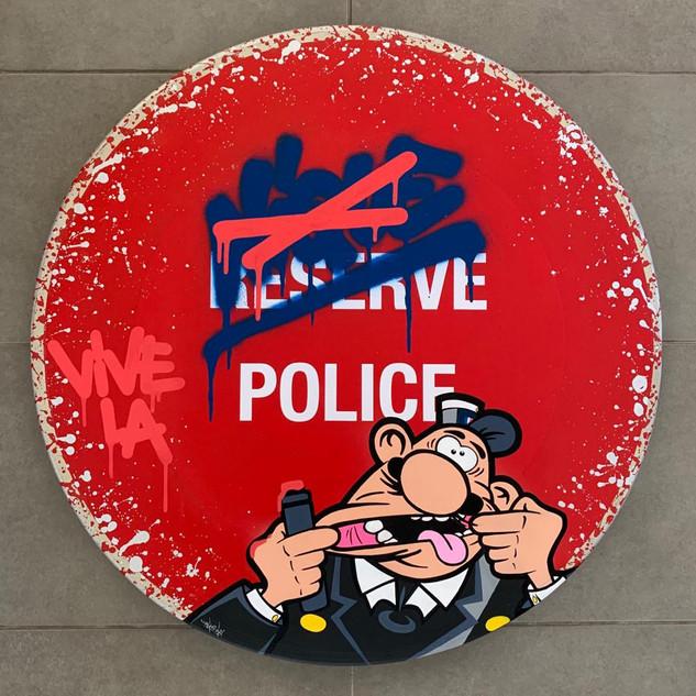 Panneau Vive la police