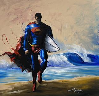 Superman on the Beach