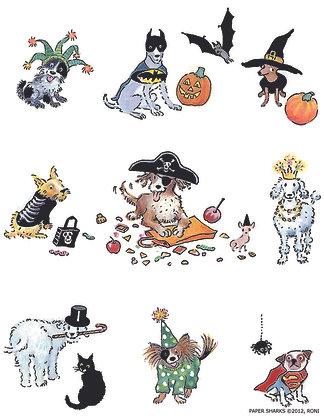 RA120  Dog Halloween Apron