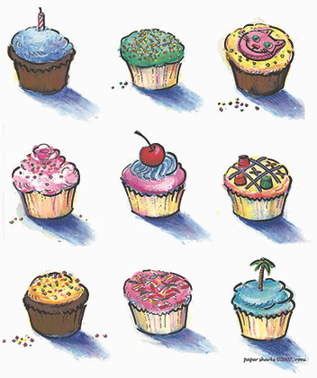 RS808  Cupcakes Apron
