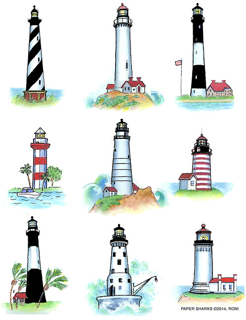 RS148  Lighthouses Apron