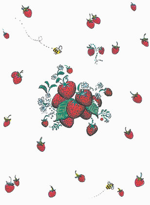 RS305  Floating Berries Apron
