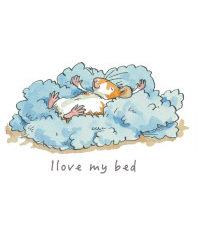 OAJ 1006 I Love My Bed Onesie